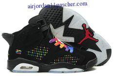 buy online d784f 56455 Buy New Women Air Jordan 6 (VI) Embroidery Black Colourful Basketball Shoes  Shop