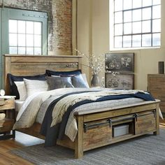 Ashley Sommerford King Storage Bed | Weekends Only Furniture and Mattress