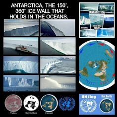 The Ice Circle of the Flat Earth kept secret through the Governments Antarctic Treaty and Space Organisations. Flat Earth Meme, Flat Earth Proof, Research Flat Earth, Flat Earth Movement, Illuminati Exposed, Nasa Lies, Earth Memes, Earth Poster