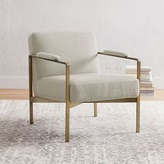 Just like its namesake, our Highline Leather Chair elevates any space with its thick, cushy seat cradled in a sculptural steel base. It's trimmed with padded arms for extra comfort, while its sturdy frame is built from durable wood that's be… Oversized Furniture, Small Furniture, Living Furniture, Living Room Chairs, Home Furniture, Metal Furniture, Room Planning, Engineered Wood, West Elm