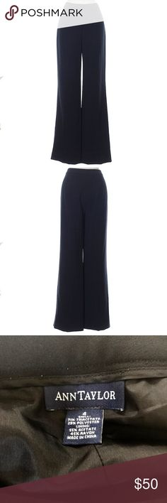 Ann Taylor Dress Pants A lovely pair of dress pants. These are just perfect staples to anyone's wardrobe! There is a tiny bit of fading, but not really noticeable. The mid-rise waist is super flattering as well. Ann Taylor Pants