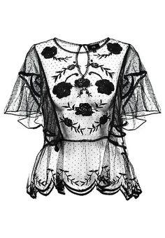 """Bestill  River Island Bluser - black for kr 297,00 (05.12.17) med gratis frakt på Zalando.noalt av kjoler/gensere/skjørt osv i morsomme farger/mønstre.    Str 38/40 M/L, kommer ann på om de ser """"store eller små"""" ut i størelsen :P    Her eksempel fra zalando"""