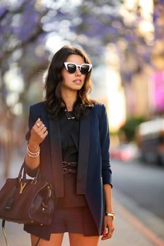 a black and navy short suit