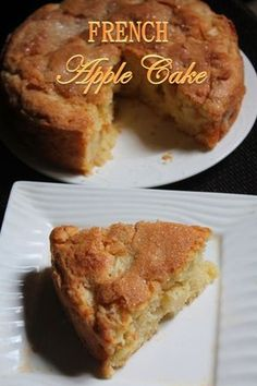 Yesterday i saw beautiful crispy apples lying in the fridge. I have no problem finishing those, because they are fresh and tasted amazing. But my passion for baking urged me to use them and bake something. So i decided to bake a proper apple cake, when i Apple Cake Recipes, Apple Desserts, Just Desserts, Baking Recipes, Delicious Desserts, Dessert Recipes, Apple Cakes, Apple Kuchen Recipe, Apple Sponge Cake