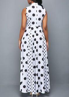 High Waist Zipper Back Dot Print Maxi Dress Tight Dresses, Sexy Dresses, Casual Dresses, Latest African Fashion Dresses, Women's Fashion Dresses, Moda Formal, Dot Dress, Chic Outfits, Street Style Women