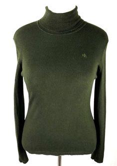 d743beadbd1a Ralph Lauren Ivory Winter White Cotton Zip Mock Neck Ribbed Sweater Womens  L 14