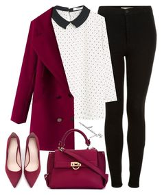 """Stylish Monday"" by avonsblessing94 ❤ liked on Polyvore featuring Topshop, MANGO, Salvatore Ferragamo and Zara"
