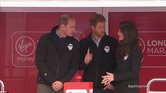 Shall I push the button? Prince Harry, Prince William and Kate Middleton discussed how they would push the button the start the race