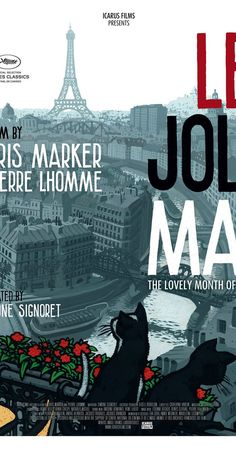 Directed by Chris Marker, Pierre Lhomme.  With Chris Marker, Yves Montand, Simone Signoret, Alain Resnais. Chris Marker and Pierre Lhomme's LE JOLI MAI (The Lovely Month of May) is a portrait of Paris and Parisians during May 1962;the first springtime of peace after the ceasefire with Algeria and the first time in 23 years that France was not involved in any war.
