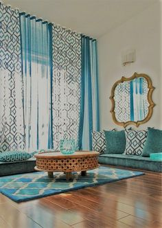 Moroccan Home Decor. Moroccan Decor- Moroccan Living Room seating on the floor calming colors Moroccan Home Decor- Vibrant colors and patterns. The lighting is amazing and is great on a dark decor. Moroccan Decor Living Room, Moroccan Home Decor, Moroccan Interiors, Living Room Decor, Moroccan Style, Moroccan Bedroom, Moroccan Lanterns, Morrocan Curtains, Moroccan Inspired Bedroom
