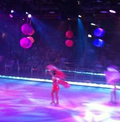 An ice-dancing show on Royal Caribbean's Liberty of the Seas (on an actual ice rink)