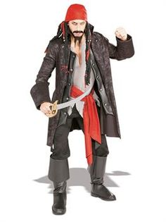 Adult Captain Cutthroat Pirate Costume Size Standard Licensed 16844 Brand New Boys Pirate Costume, Alice Costume, Queen Of Hearts Costume, Queen Costume, Halloween Costume Accessories, Halloween Costumes, Pirate Jacket, Pirate Fancy Dress