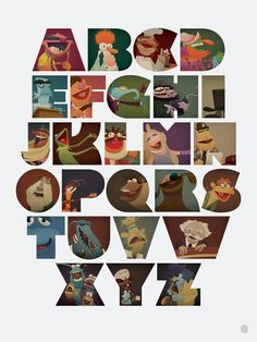 Muppabet, by David Vordtriede. This 750 piece lithograph edition 18″ x 24″ print was unveiled at San Diego Comic-Con 2013, and retails online for just $30.