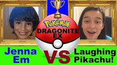 VIDEO: Jenna Em VS Laughing Pikachu Pokemon Dragonite EX battle!   WATCH: http://youtu.be/b3C6tB-5xtM  #PokemonTCG #PokemonCards #Pokemon20