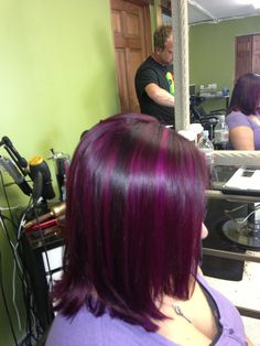 Redken violets red with provana magenta purple highlights. Bound & determined to make this happen despite the J-O-B.