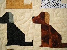 Image result for Dog Quilt Block Pattern