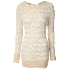 Jane Norman Ribbon Detail Jumper ($26) ❤ liked on Polyvore featuring tops, sweaters, off white, clearance, jumper top, jane norman sweater, slim fit sweater, sequin top and off white sweater