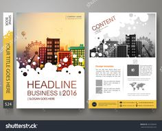 Brochure design template vector. Flyers annual report business magazine poster. Leaflet cover book portfolio presentation with abstract circle and flat city. Layout in A4 size