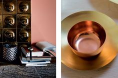 Dulux's colour of the year for 2015 is 'Copper Orange'. If you're a fan of this hue, here are a few Hillarys that will complement it beautifully. Copper Interior, Orange Interior, Color Trends, Color Combos, Copper Blush, Color Lines, Color Of The Year, Color Pallets, Metallic Paint