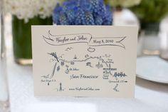 Pretty wedding invitation.