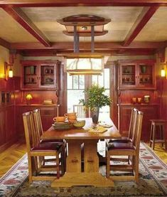 Beautiful Craftsman style dining room