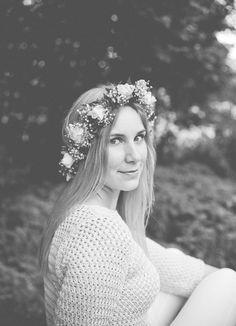 Flower crown summer portrait| Herzmalerei