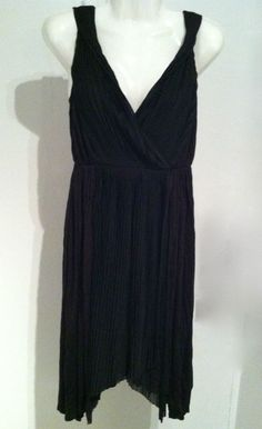 NWT H&M Boho Black Bewitched Reign Inspired Fairie Asymmetrical Dress Size 6 Small