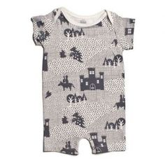 Winter Water Factory Knights & Dragons Romper