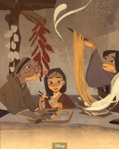 Mulan and her mother and grandmother, art Disney Pixar, Walt Disney, Disney Fan Art, Disney And Dreamworks, Disney Cartoons, Disney Animation, Disney Magic, Animation Movies, Disney And More