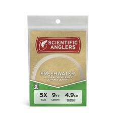 Scientific Anglers Freshwater Nylon Tapered Leader - 2-Pack Clear, 7.5ft - 0X http://fishingrodsreelsandgear.com/product/scientific-anglers-premium-nylon-leaders-2-pack/?attribute_pa_color=clear&attribute_pa_size=7-5ft-0x