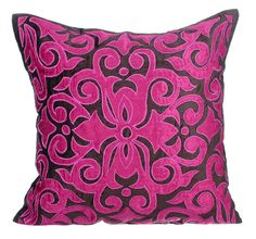 Applique Designer Throw Pillows Cover 16x16 by TheHomeCentric