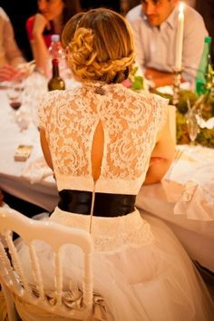 lace wedding dress. personally love lace over the back versus the back being fully exposed. so elegant.