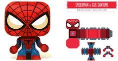 Décidément, je ne me lasse pas des super-héros ! Ceux de Gustavo Santome ont la particularité d'être très petits, et donc très mignons Pour ce mini Spider Man, Gus s'est inspiré du costume qu'on retrouve dans le film de 2012…