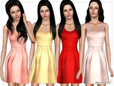 Satin party dress by CherryBerrySim - Sims 3 Downloads CC Caboodle