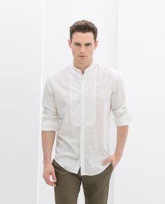 STRUCTURED SHIRT WITH BIB FRONT from Zara