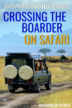 Crossing the Border on Safari: What You Need to Know - Travel to Africa