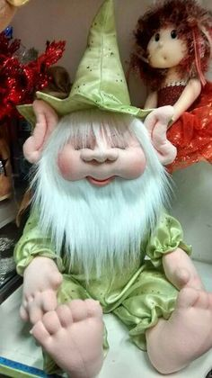 mold d noel dormilon Christmas Elf Doll, Christmas Crafts, Sewing Stuffed Animals, Sock Dolls, Waldorf Dolls, Fairy Dolls, Soft Sculpture, Felt Animals, Doll Face