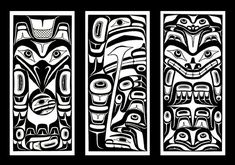 Haida - Raven & Moon, Haida Weeping Woman, Bear and Frogs. Raven and Moon on the left arm, the top crest incorporated with BTK cover Haida Kunst, Inuit Kunst, Arte Inuit, Haida Art, Inuit Art, Native Art, Native American Art, Art Haïda, Totems