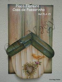 Placa Floreira Casa de Passarinho