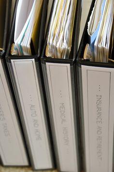 organizing paperwork idea-with binders