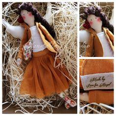 Manufaktura Aniołów (fb) / flamenco angel / tilda doll / sewing doll / mustard coloured angel