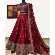 Lehenga Choli : Red phantom silk sequence embroidered work ...