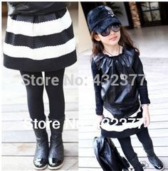 >> Click to Buy << New 2016 children's skirt black white strip baby girl kids fashion skirts for girls baby princess tutu skirt  2T~8 Wholesale #Affiliate