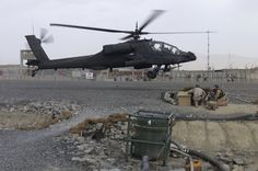 Boeing AH-64D Apache attack helicopter in Afghanistan.