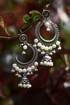 #jhumkabalis #pearls #sterlingsilver