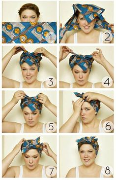 If you are bored from your everyday hairstyle, then it is time to do something new and exiting with your hair. Our suggest is to try some hair accessories, and for this post today we chose the bandana. There are many ways to wear bandana on to your hair, Hair Scarf Styles, Curly Hair Styles, Natural Hair Styles, Hair Scarf Wraps, Diy Hair Wrap Scarf, Bandana Ideas, Everyday Hairstyles, Diy Hairstyles, Short Hair