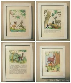 Little Golden Book wall art - turn old children's books into wall art! by wippyeye