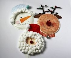 Make Christmas characters from paper plates – Craft projects for every fan! Christmas Crafts For Toddlers, Christmas Crafts For Kids, Xmas Crafts, Toddler Crafts, Preschool Crafts, Simple Christmas, Diy Crafts For Kids, Christmas Decorations, Christmas Ideas