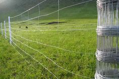 farm fence installation  Materials: Low carbon galvanized wire, hot dipped galvanized high carbon wire, low carbon cold galvanized wire.