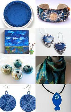 """""""Mykonos Blue - Trendy Color 2014"""" by Iulia Postica --Pinned with TreasuryPin.com"""